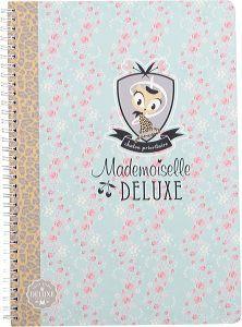 Mademoiselle de Luxe, Spiralheft A4 50 Blatt kariert
