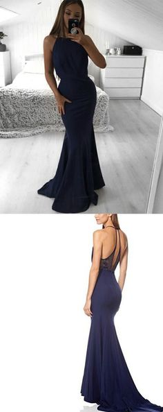 Mermaid Prom Dress 2019 Long, Round Neck Prom Dress 2019 Long, Open Back Prom Dress 2019 Long, Blue Prom Dress 2019 Long, Prom Dress 2019 Long With Lace. Plain Prom Dresses, Navy Blue Prom Dresses, Open Back Prom Dresses, Formal Dresses, Shoe Chart, White Fabrics, Dress Collection, Perfect Fit