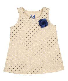 Oatmeal Polka Dot Rosette Tank - Infant, Toddler & Girls by Cotton On Kids #zulily #zulilyfinds