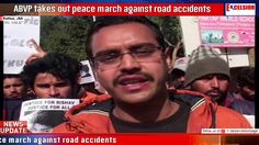 ABVP takes out peace march against road accidents