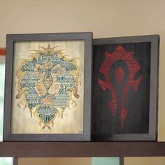 World of Warcraft Horde and Alliance Art Print  - made with words from WOW