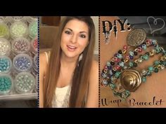 DIY: Beaded Wrap Bracelet - looks easy and fun for any beginner!!!! She's very slow and informal, she's the best I have ever watched!!!