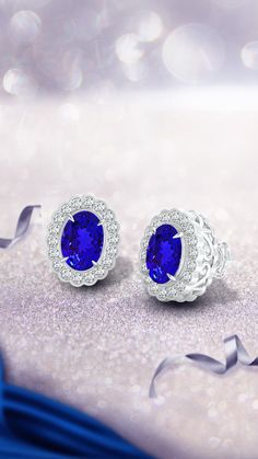 Angara Classic Claw-Set Pear Tanzanite Solitaire Stud Earrings in Platinum GjdCaJ4k9