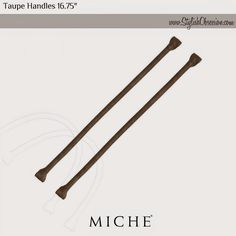 """Taupe Interchangeable Handles 16.75"""": Taupe faux leather rolled short straps perfectly match our Gizell Shells. Hardware not included. Dimensions: 16 ¾"""" long x ¾"""" wide. See Miche's newest styles now at www.FunBagBiz.com #Miche #purses #handbags #style #fashion #love4miche #funbagbiz #stylishobsession"""