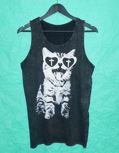Awesome Kitten Cat Tank top bleach shirt size by BlackTeenFashion, $15.00