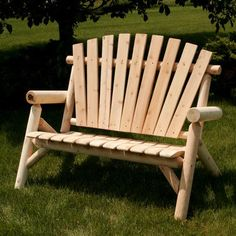 Moon Valley Rustic Garden Bench - Finish: Unfinished  alternate image @ SEARS.COM