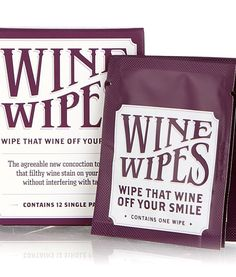 Wine Wipes Single Packs   Crafted by Borracha