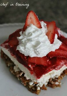 Strawberry Pretzel Jello Salad...