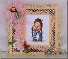 Tilda Blowing Hearts and Pink Elganza Ribbon.