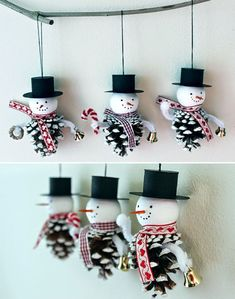 To make 2018 xmas Easy Christmas Crafts For Toddlers, Christmas Crafts Sewing, Christmas Ornament Crafts, Diy Christmas Gifts, Simple Christmas, Recycled Christmas Decorations, Disney Christmas Decorations, Beautiful Pictures, Snowman
