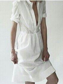 simple linen white dress - Google Search