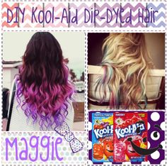 I kool aid dyed my hair d by mzrocperez liked on polyvore diy kool aid dip dyed hair by tips to tips solutioingenieria Gallery