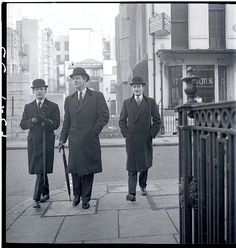 The New Mayfair Edwardians (Peter Coats; William Ackroyd; Mark Gilbey) 1950. By Norman Parkinson.
