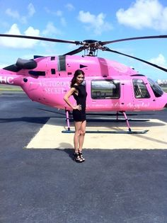 #VSPuertoRico With the Victoria's Secret Pink helicopter in San Juan! What a beautiful day. Love, Adriana
