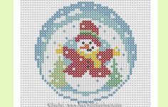 Snowman hama mini bead pattern by Rachel