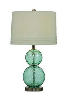 Barika Blue Table Lamp W/Lightning