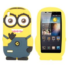 Huawei Ascend P6 Silicone case, cover, hoesje, frontje Minion