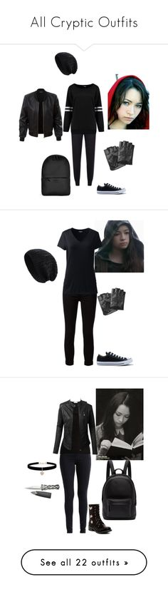 """""""All Cryptic Outfits"""" by jakela778 on Polyvore featuring Converse, Rains, Karl Lagerfeld, LE3NO, STELLA McCARTNEY, J Brand, Lands' End, plus size clothing, Skin and MIA"""