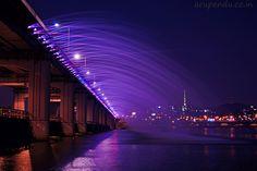 photography, korea, and lights image