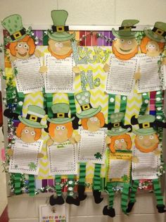 St. Patricks Day and Spring Writing Bulletin Board Idea
