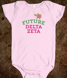Future Delta Zeta Onesie - adorable baby shower gift or newborn gift for your sorority sister :)