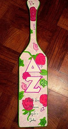 Custom Delta Zeta Sorority Paddle