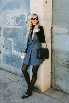 e97c7530c8d Buttoned Wrap Dress + Personal News - Dash of Darling Stylish Winter  Outfits