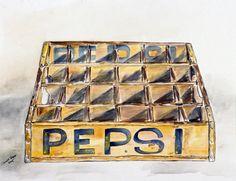 Old PEPSI crate art.