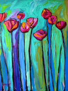 Items similar to Abstract Poppies VII, Commissioned painting by Patty Baker on Etsy Abstract Canvas, Oil Painting On Canvas, Acrylic Paintings, Canvas Art, Art Paintings, Flower Paintings, Poppies Painting, City Painting, Art Floral
