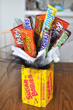 A candy bouquet is a quick way to make someone feel special for Valentine's Day