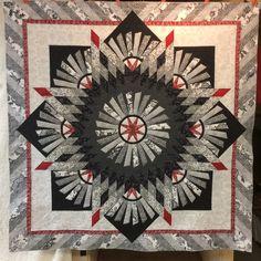Kirsten's Tarnished Windmill quilt.  Pattern by Judy Niemeyer.  Machine quilted by Kathleen Crabtree.
