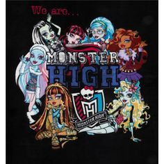 Monster+High+Fleece+We+Are+Monster+High+Black from @fabricdotcom  This+medium+weight+fleece+is+anti-pill+and+ultra+soft.+It+is+perfect+for+creating+jackets,+vests,+scarves,+mittens,+throws+and+more!+Panel+measures+47''+x+60''.