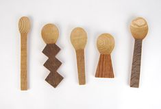 Fun wooden utensils - salad servers