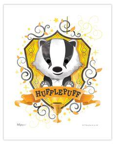 Harry Potter (Hufflepuff Watercolor) MightyPrint Wall Art MP08100453