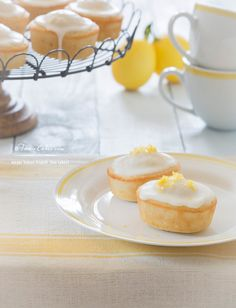 Meyer lemon friands - tea cakes cute for a baby shower, bridal shower, or brunch party