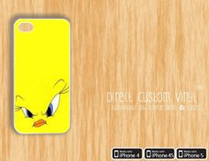 Iphone 4 - Iphone 4s - Iphone 5 - White - Looney Tunes - Mad Angry Tweety - Protective Case - Hard Case - 15% Off Until 2/25. $8.99, via Etsy.