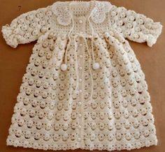 Imagenes de Chaquetas de Bebe y vestidos a crochet