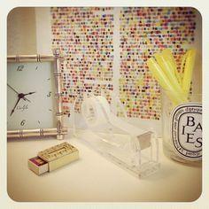 @Matchbook Magazine office. I adore the clock!