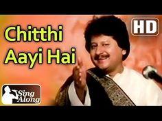 Chitthi Aayi Hai (HD) - Pankaj Udhas Superhit Old Hindi Karaoke Ghazal Song - Naam - Sanjay Dutt - YouTube