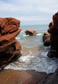 Sandstone Cliffs by kimberley blue, via Flickr | Îles-de-la-Madeleine, Québec, Canada Top Countries To Visit, Province Du Canada, Friedrich Hegel, Voyager Loin, O Canada, Camping World, Quebec City, Island Beach, Ottawa