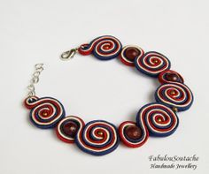 Soutache Necklace, Earrings, Shibori, Beaded Embroidery, Tatting, Washer Necklace, Diy And Crafts, Handmade Jewelry, Jewels