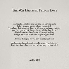Damaged people.