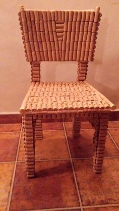 Wine Chair made from recycled corks