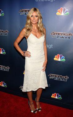Who: Heidi Klum Wore: Marchesa Where: 'America's Got Talent' Season 9 post-show event via StyleList | http://aol.it/1kzqvtT
