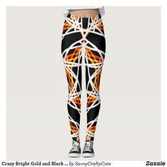 Crazy Bright Gold and Black Kaleidoscope Pattern