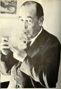 """CS Lewis has had a profound impact on me since 1970. He changed my faith. More properly his works provided its foundation. I read virtually everything he & fellow Inkling Chas Williams had written over the next decade. In 1979 I began writing """"Seabird: Narenta #1"""", my 1st attempt at writing Spec Fic in 15 yrs. Lewis changed my life—I wouldn't have become an author & stayed one without him. I love this pix--like he's patiently waiting for someone to stop babbling so he can offer a bit of…"""