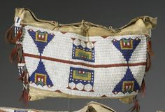 A Sioux beaded possible bag