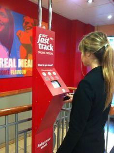 KFC fast track remote ordering app