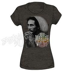 Bob Marley and The Wailers Heather Brown T-Shirt - Women's #BobMarley