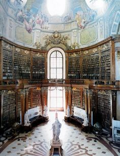 Austrian National Library, Vienna, Austria :: [Beautiful Places Throughout Europe] Library Room, Dream Library, Future Library, Vienna Library, Grand Library, Hallstatt, Beautiful Library, Home Libraries, Public Libraries